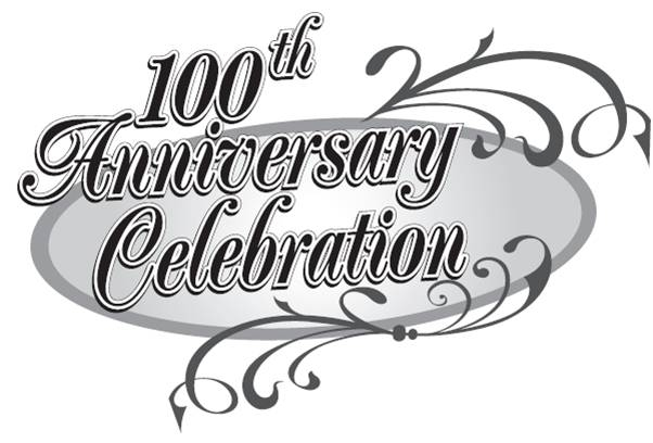 100 clipart 100%.  th church anniversary