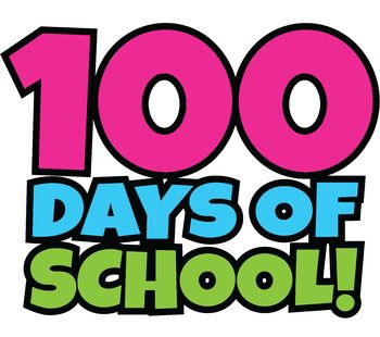 100 clipart 100 day. Free days of school