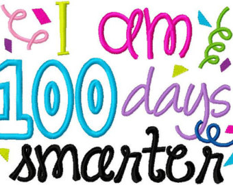 th day cilpart. 100 clipart 100 days smart