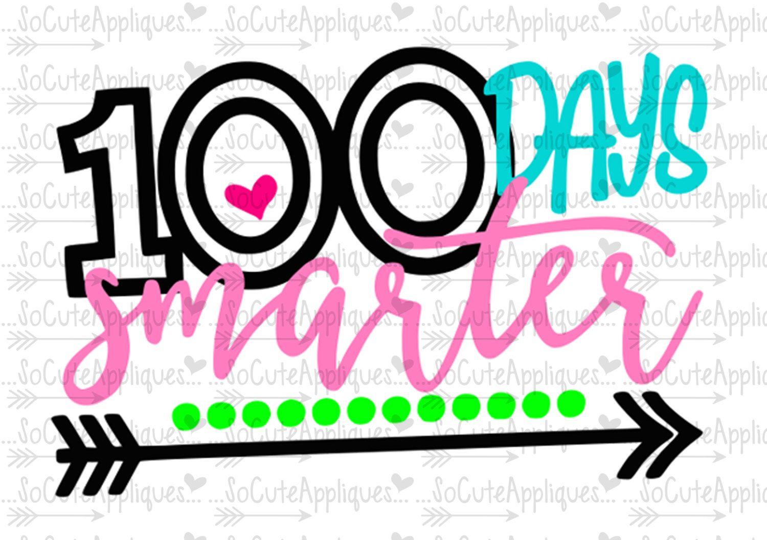 Svg dxf eps cut. 100 clipart 100 days smart