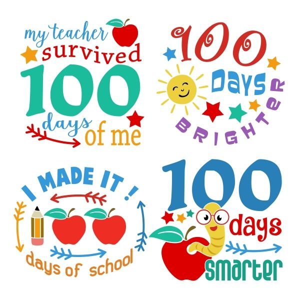 100 clipart 100 days smart.  best school images