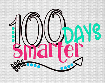 th day of. 100 clipart 100 days smart