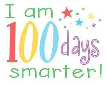100 clipart 100 days smart. I am smarter teaching