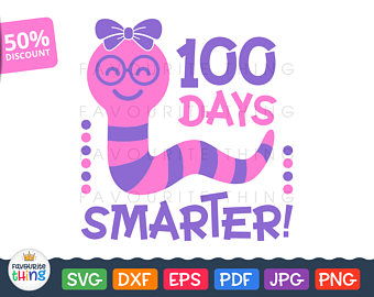 svg school magical. 100 clipart 100 days smart