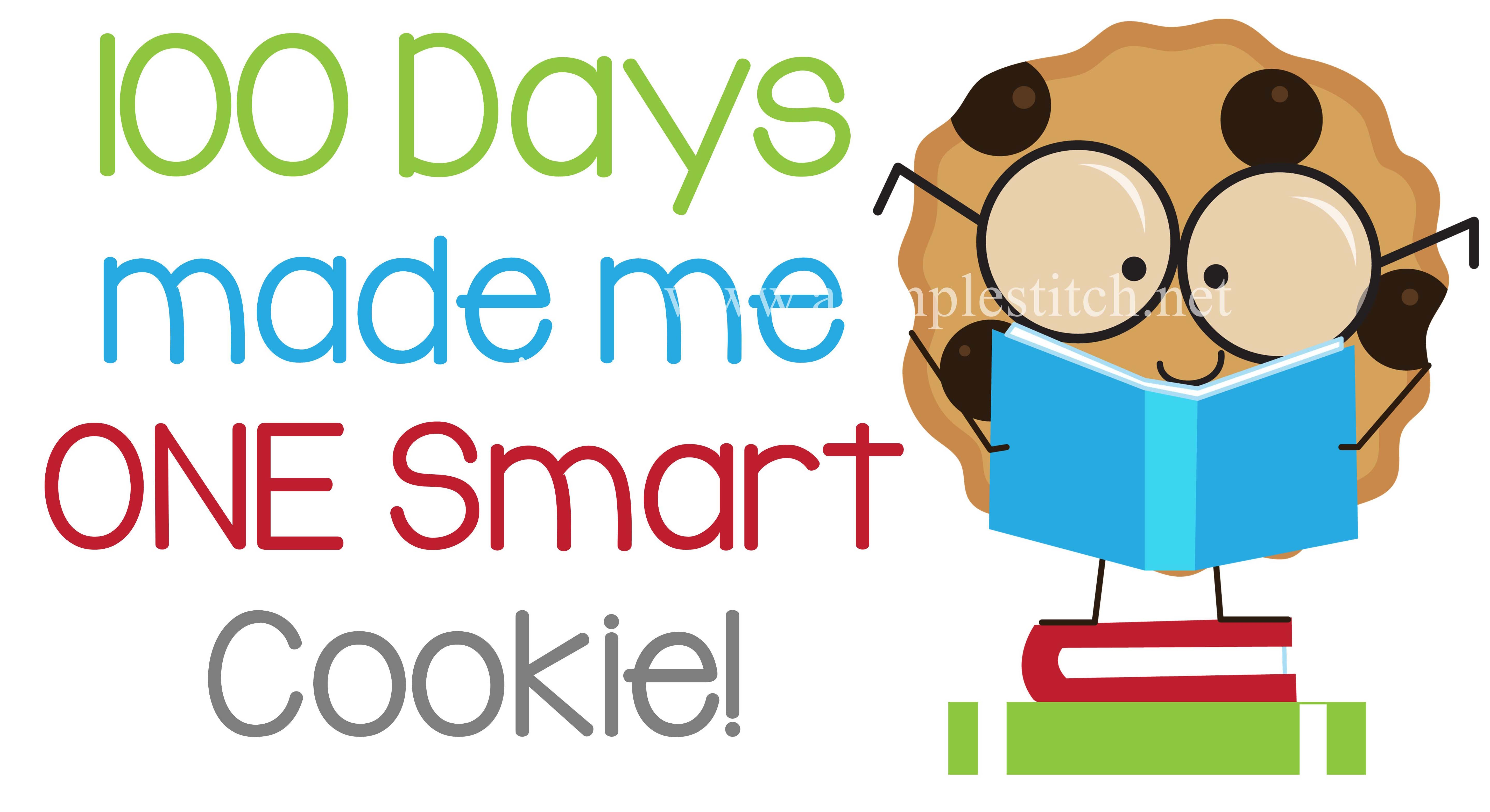 cookie boy asimplestitch. 100 clipart 100 days smart
