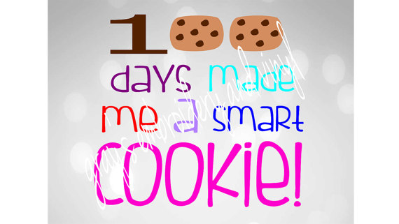 100 clipart 100 days smart.  made me a