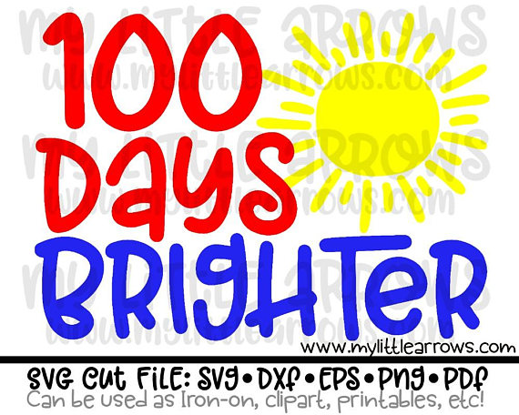 of school svg. 100 clipart 100 days smart