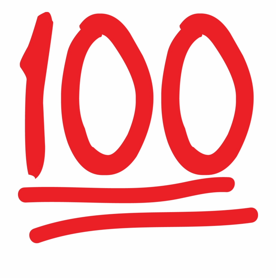100 clipart 100 percent.  emoji symbol at