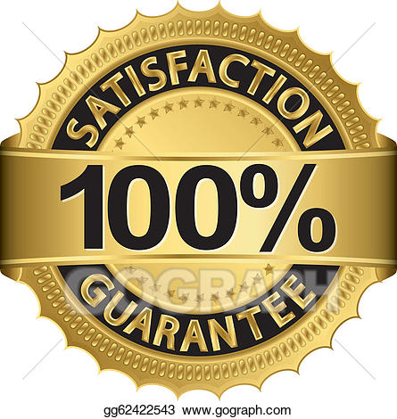 Vector satisfaction guarantee. 100 clipart 100 percent