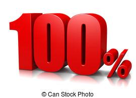 . 100 clipart 100 percent