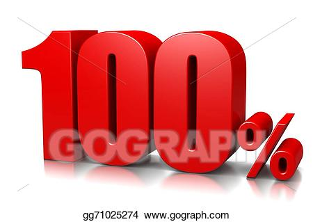 Stock illustration gg gograph. 100 clipart 100 percent