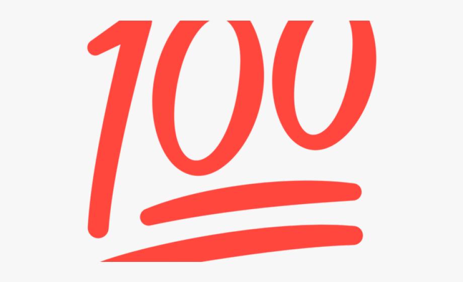 100 clipart 100 percent. Hand emoji circle free