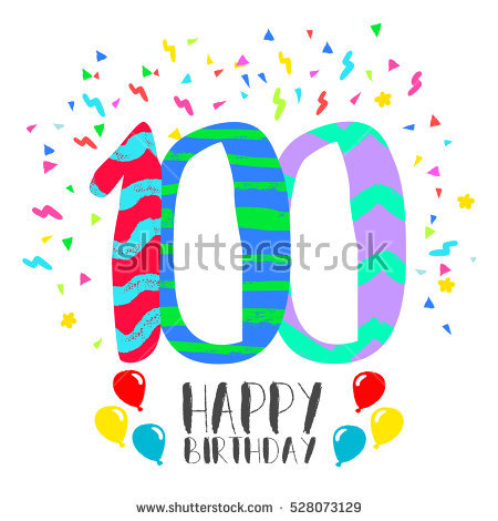 100 clipart 100 year. Free th birthday download