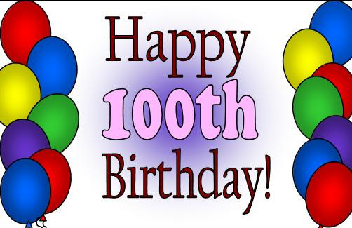 th happy world. 100 clipart 100th birthday