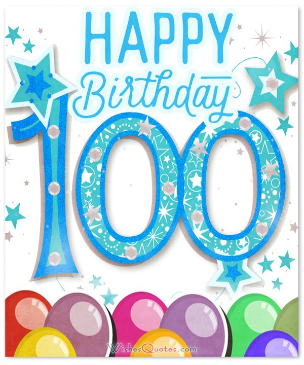 The best th wishes. 100 clipart 100th birthday