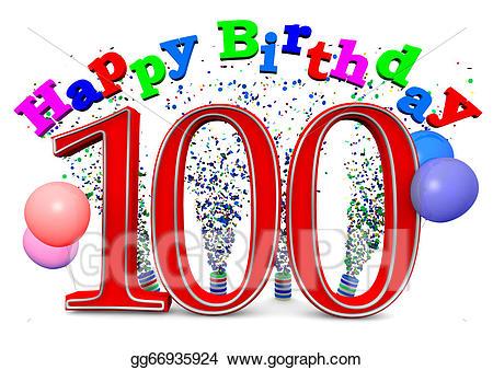 100 clipart 100th birthday. Clip art happy th