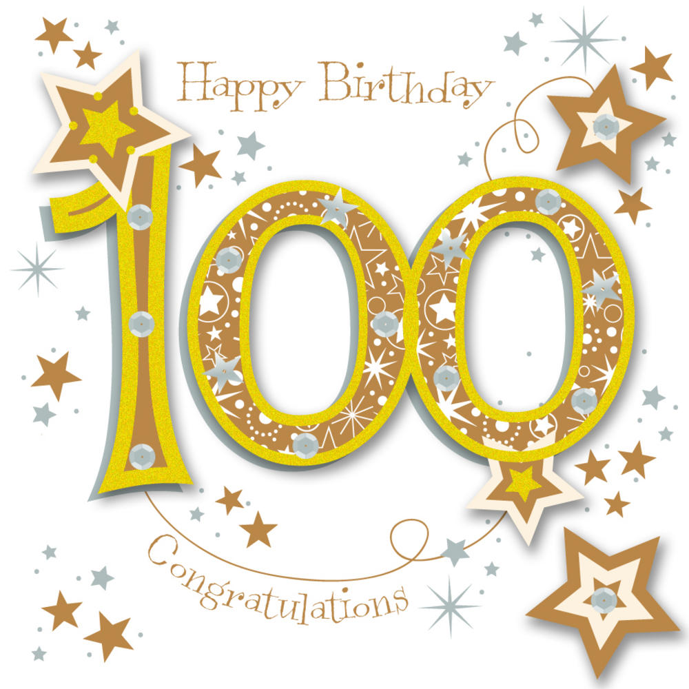 100 clipart 100th birthday. Happy th handmade embellished
