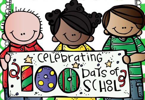 th of school. 100 clipart 100th day