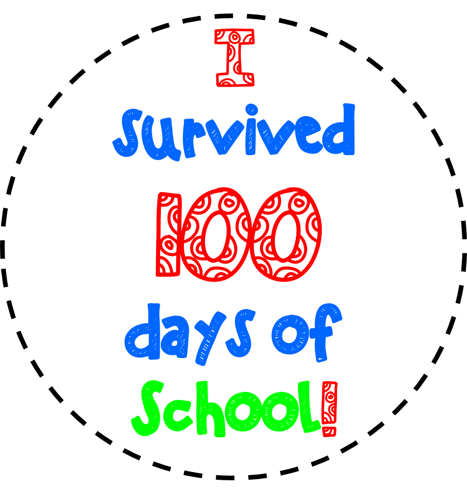 Free th of school. 100 clipart 100th day
