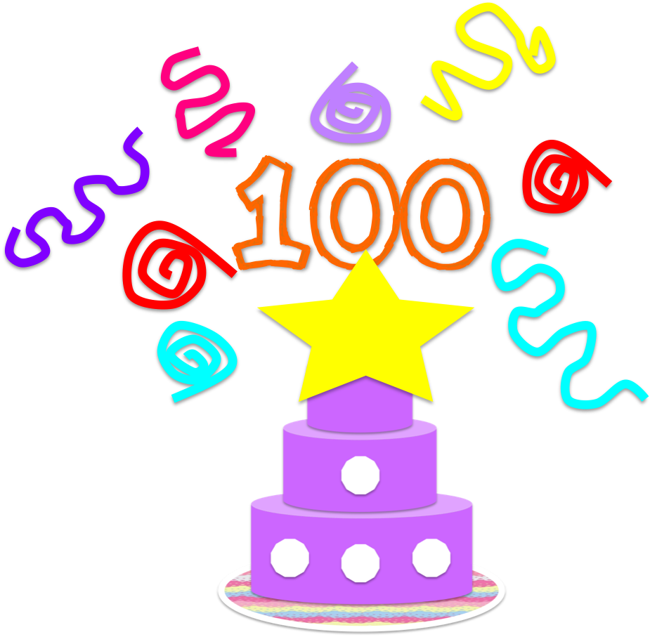 100 clipart 100th day. Apple tree learning th