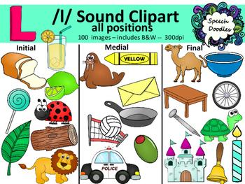 100 clipart. L sound images personal