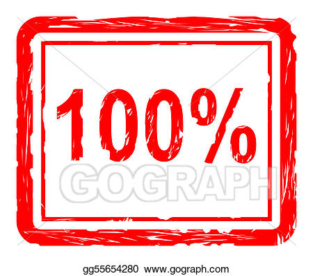 Stock illustration quality stamp. 100 clipart
