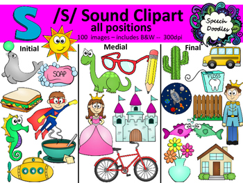 S sound images personal. 100 clipart
