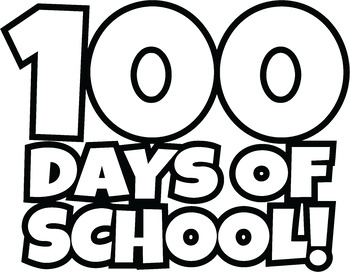 100 clipart. Free days of school