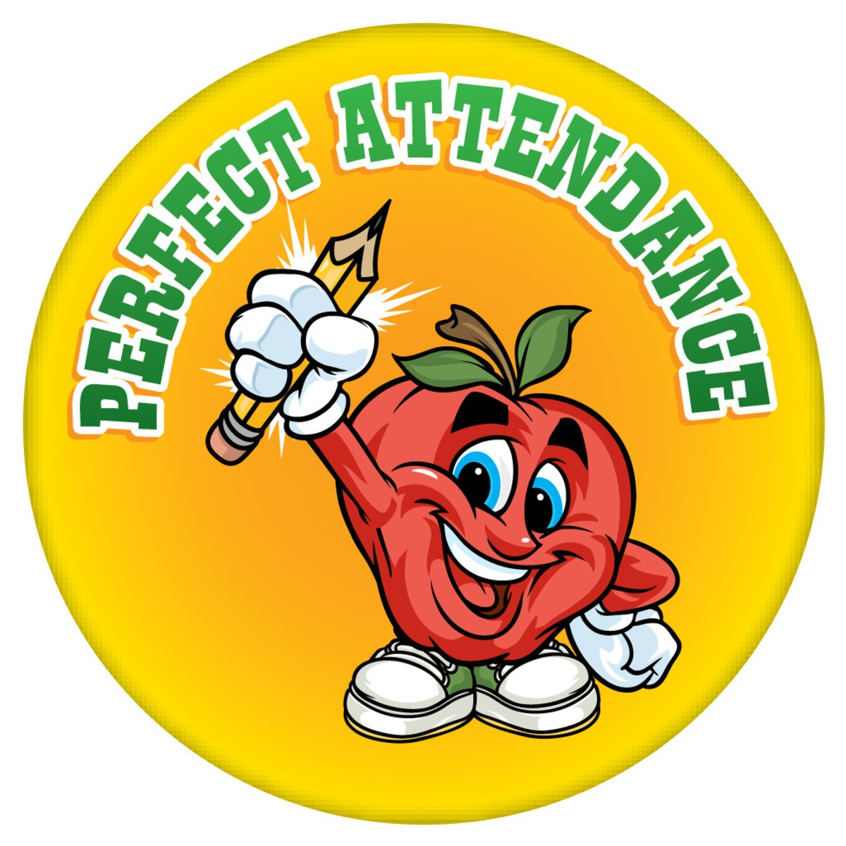 Stock round sticker perfect. 100 clipart attendance