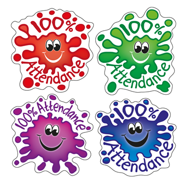 Children s school stickers. 100 clipart attendance