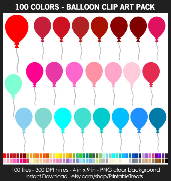 colors pack commercial. 100 clipart balloon