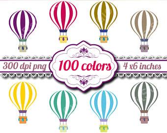 100 clipart balloon. Air clip art etsy