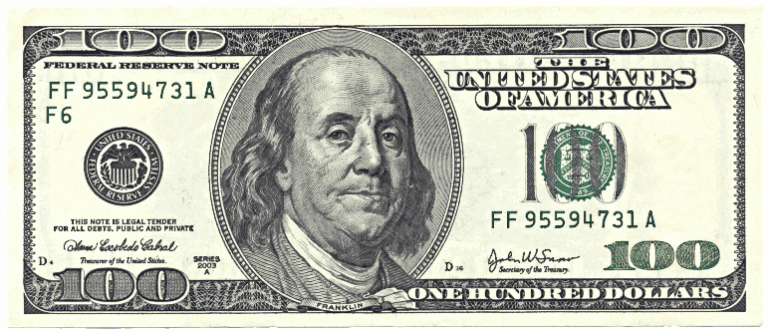 Dollar bills free cliparts. 100 clipart bill