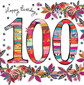 Unique th cards funky. 100 clipart birthday