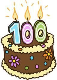 year. 100 clipart birthday