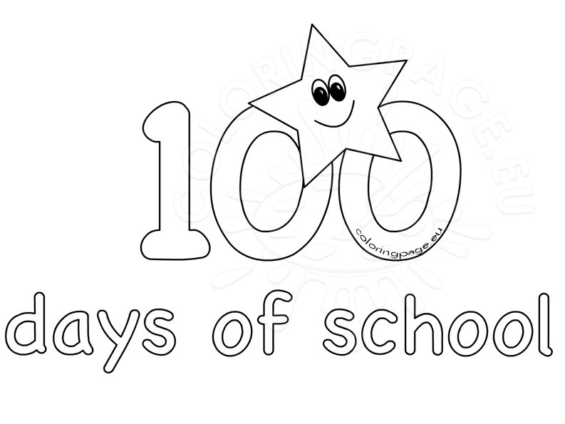 100 clipart black and white.  th day school