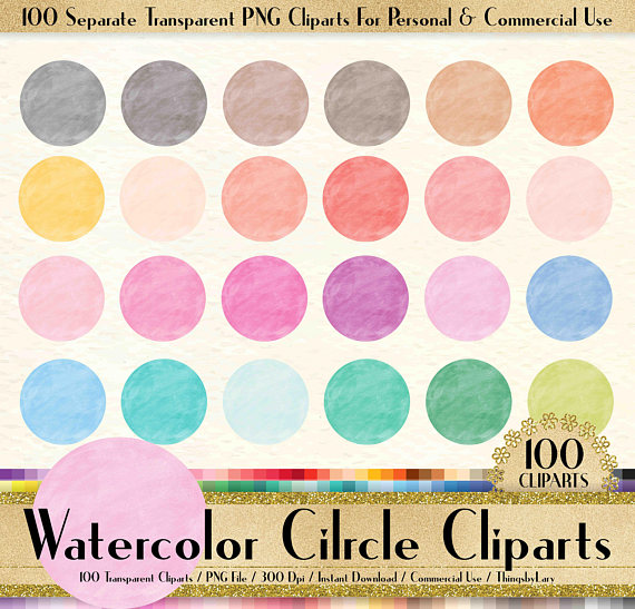 watercolor frame love. 100 clipart circle