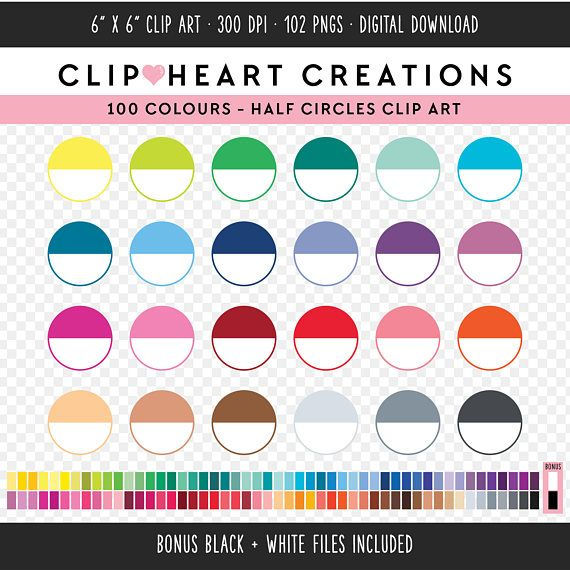 100 clipart circle.  half commercial use