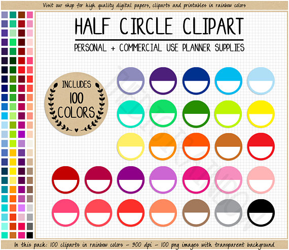 100 clipart circle. Sale half blank stickers