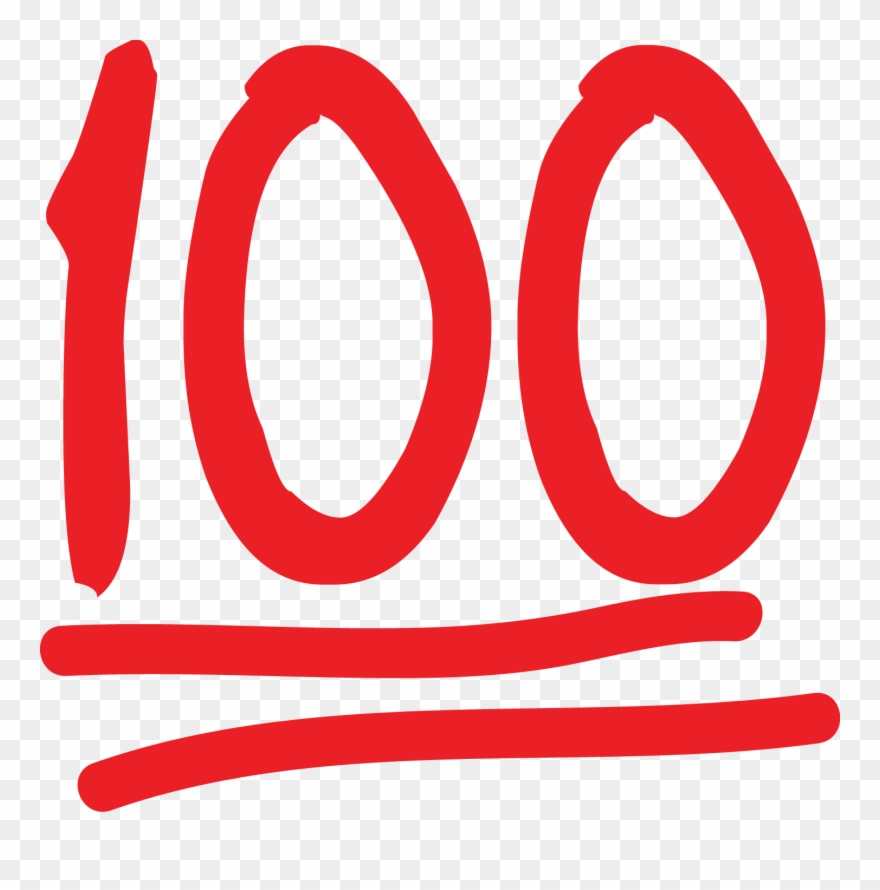 Image black and white. 100 clipart emoji