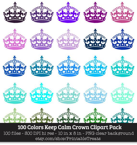 colors keep calm. 100 clipart item