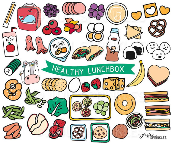100 clipart item. Lunchbox healthy lunch kids