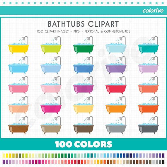 Bathtub rainbow colors bathtubs. 100 clipart item