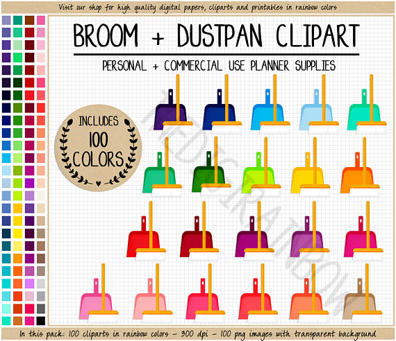 Broom clipart chore.  cleaning household house