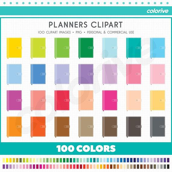 Planner rainbow colors fun. 100 clipart item