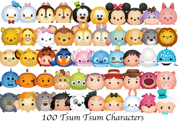 Tsum characters high resolution. 100 clipart item