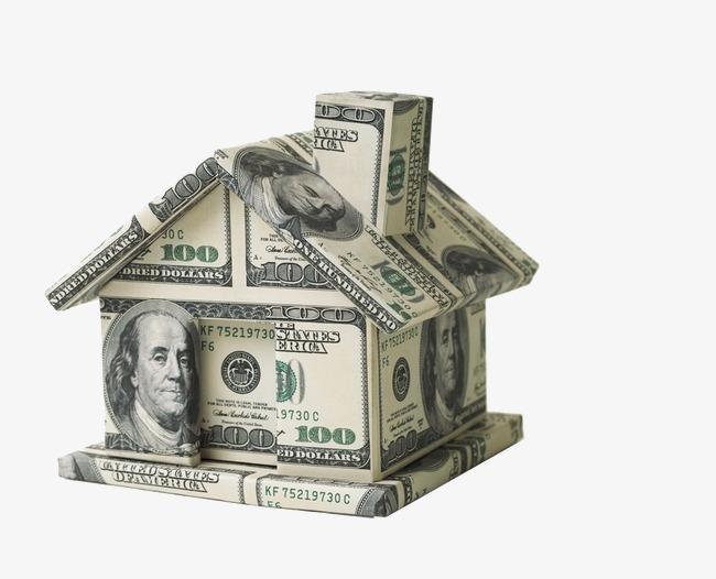 Usd series folded hut. Bills clipart 100 dollar