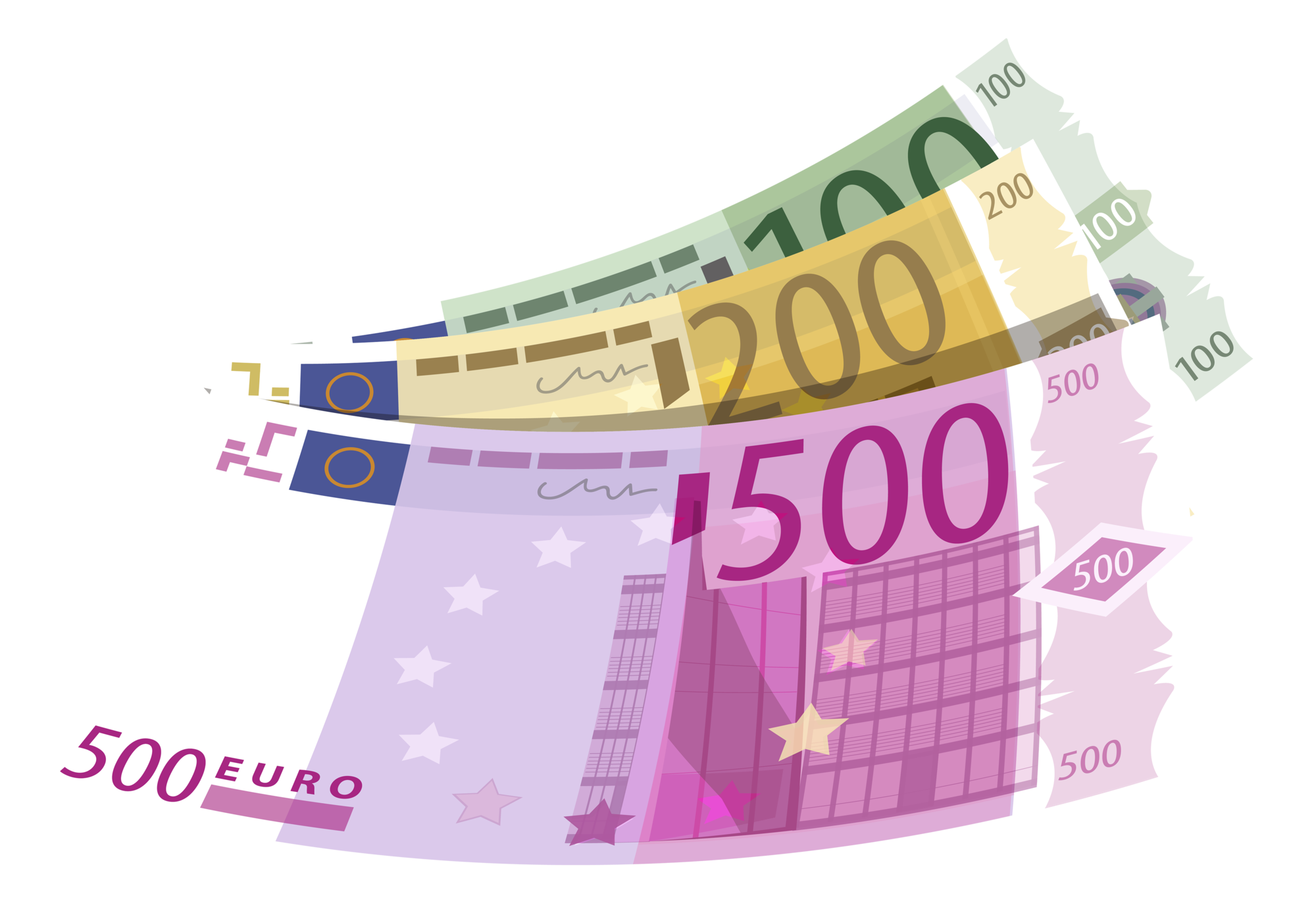 100 clipart money. Banknotes euro png