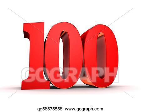 Stock illustration red illustrations. 100 clipart number 100