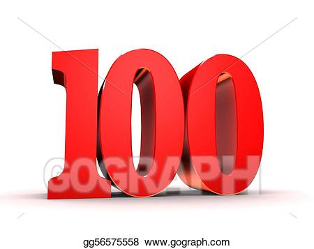 100 clipart number 100. Stock illustration red illustrations